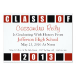 Class Of 2013 Invitation (Maroon / Black Boxes)