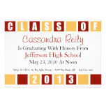 Class Of 2013 Invitation (Maroon / Gold Boxes)