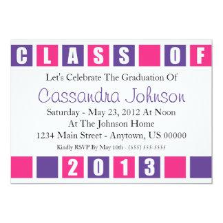 Class Of 2013 Invitation (Purple / Magenta Boxes)