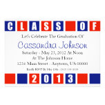 Class Of 2013 Invitation (Red / Blue Boxes)