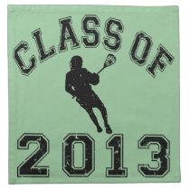 Class Of 2013 Lacrosse Cloth Napkin