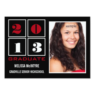 Class of 2013 Large Photo Red and Black Card