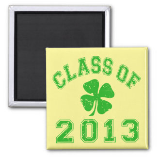 Class Of 2013 Lucky Shamrock 2 Inch Square Magnet