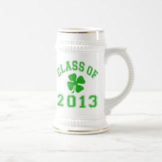 Class Of 2013 Lucky Shamrock Beer Stein
