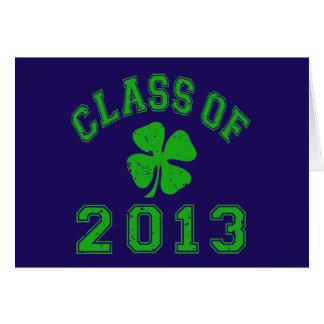 Class Of 2013 Lucky Shamrock Card
