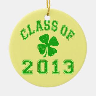 Class Of 2013 - Lucky Shamrock Ceramic Ornament