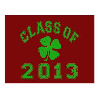 Class Of 2013 Lucky Shamrock Postcard