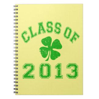 Class Of 2013 Lucky Shamrock Spiral Notebook