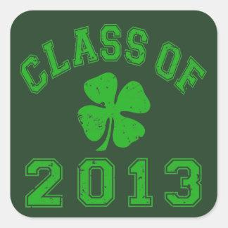 Class Of 2013 Lucky Shamrock Square Sticker