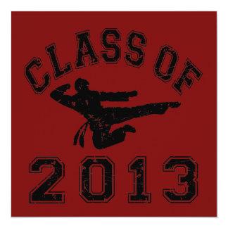 Class Of 2013 Martial Art - Black 2 Custom Announcement