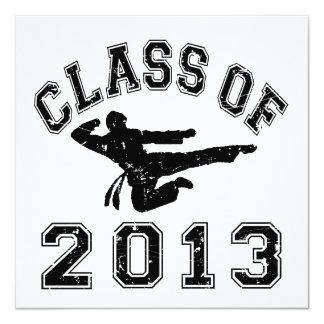 Class Of 2013 Martial Art - Black 2 Custom Invitations