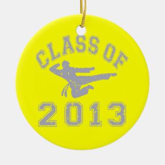 Class Of 2013 Martial Art - grey 2 Ceramic Ornament