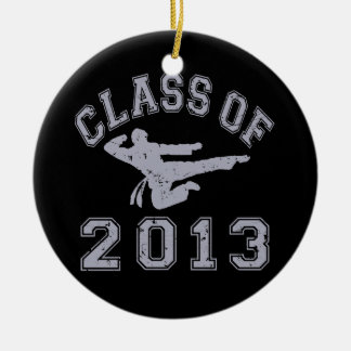 Class Of 2013 Martial Art - grey 2 Double-Sided Ceramic Round Christmas Ornament