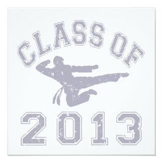 Class Of 2013 Martial Art - Grey 2 Custom Announcement