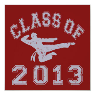 Class Of 2013 Martial Art - Grey 2 Personalized Invitation