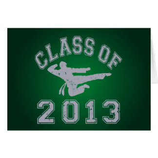 Class Of 2013 Martial Arts Stationery Note Card
