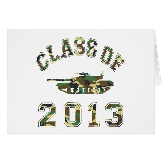 Class Of 2013 Military School - Camo 2 Card