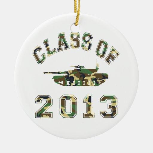 Class Of 2013 Military School - Camo 2 Ceramic Ornament