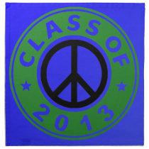 Class Of 2013 Peace Napkin