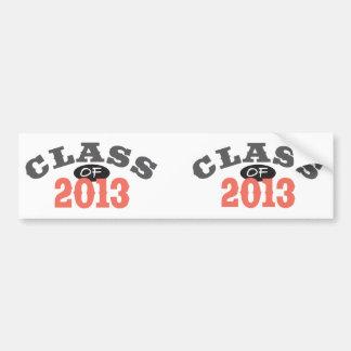 Class Of 2013 Peach Bumper Sticker