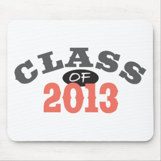 Class Of 2013 Peach Mouse Pad