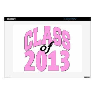 "Class of 2013 Pink 15"" Laptop Skin"