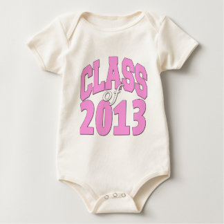 Class of 2013 pink baby bodysuit