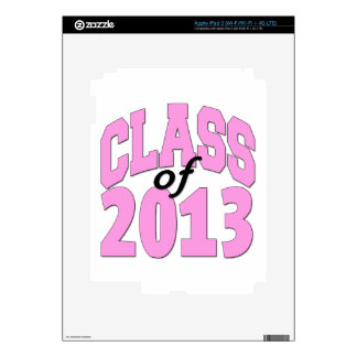 Class of 2013 Pink Decal For iPad 3
