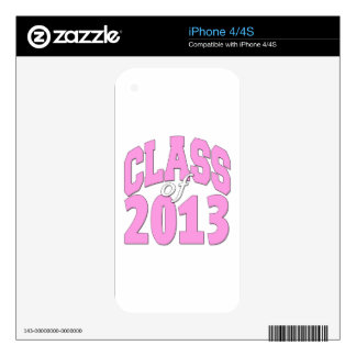 Class of 2013 pink decal for the iPhone 4S