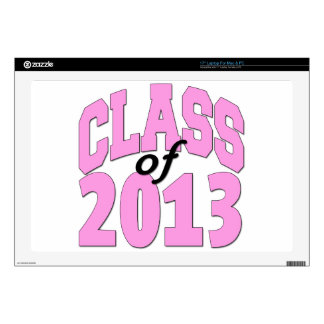 """Class of 2013 Pink Decals For 17"""" Laptops"""