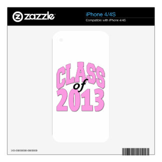 Class of 2013 Pink iPhone 4 Decal