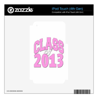 Class of 2013 pink iPod touch 4G decal