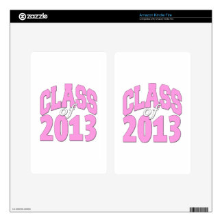 Class of 2013 pink kindle fire decals