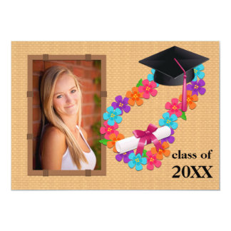 Class of 2013 Pink Lei Graduation Invitation