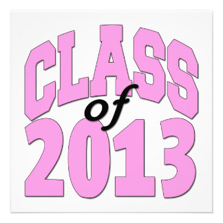 Class of 2013 Pink Personalized Invitations