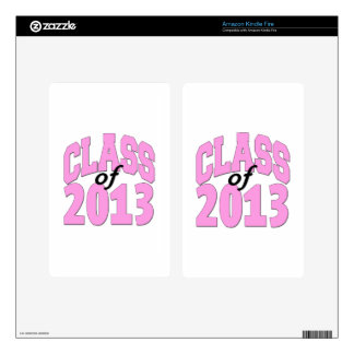 Class of 2013 Pink Skin For Kindle Fire