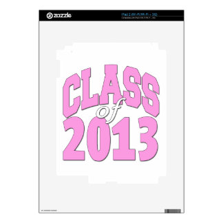 Class of 2013 pink skin for the iPad 2