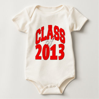 Class of 2013 (red2) baby bodysuit