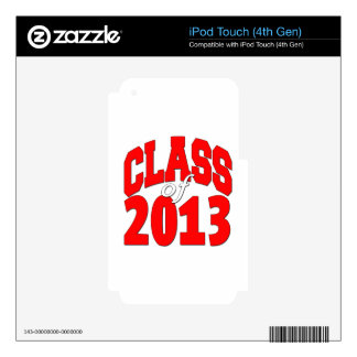 Class of 2013 (red2) decal for iPod touch 4G