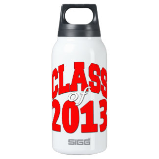 Class of 2013 (red2) insulated water bottle