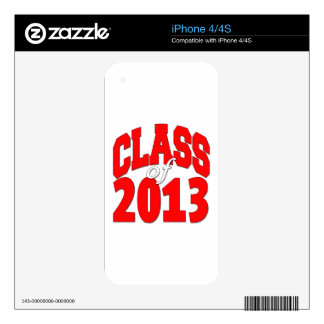 Class of 2013 (red2) iPhone 4 decal