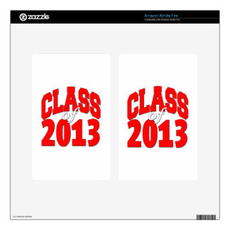 Class of 2013 (red2) kindle fire decal