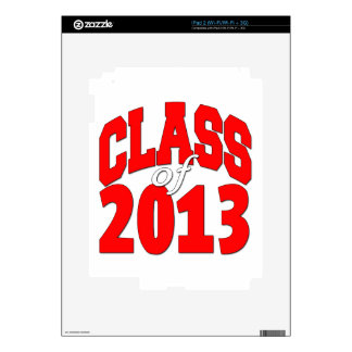 Class of 2013 (red2) skin for iPad 2