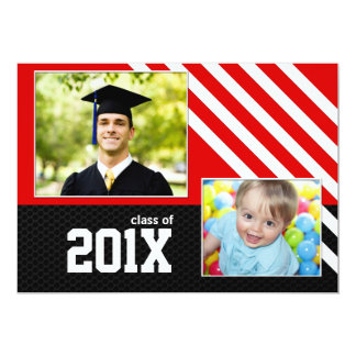 Class of 2013 Red Black and White Graduation Card