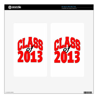Class of 2013 (red) decal for kindle fire