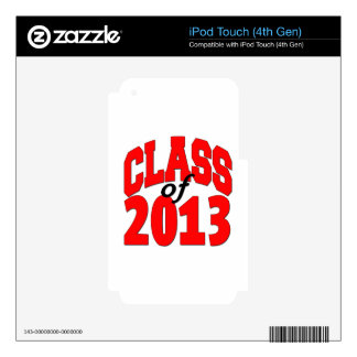 Class of 2013 (red) skin for iPod touch 4G