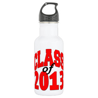 Class of 2013 (red) stainless steel water bottle
