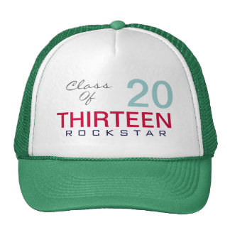 Class of 2013 ROCKSTAR Trucker Hat (Green)