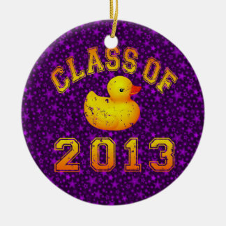 Class Of 2013 Rubber Duckie Double-Sided Ceramic Round Christmas Ornament