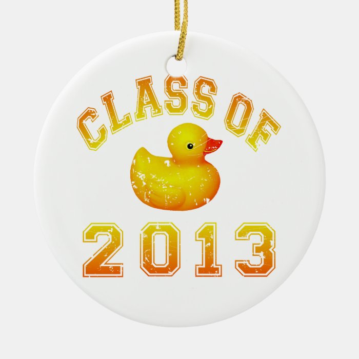 Class Of 2013 Rubber Duckie - Yellow/Orange Ceramic Ornament